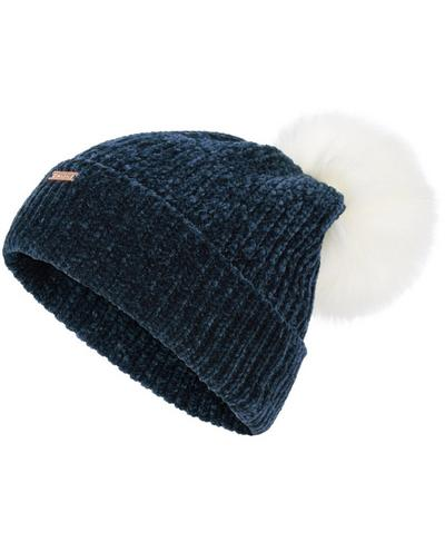 Chenille Bobble Hat, Beetle Blue | Sweaty Betty