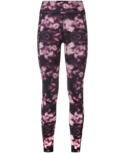 Reversible 7/8 Yoga Leggings, Aubergine London Print | Sweaty Betty