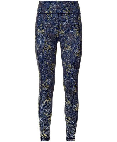 Reversible 7/8 Yoga Leggings, Beetle Blue Running Wild Print | Sweaty Betty