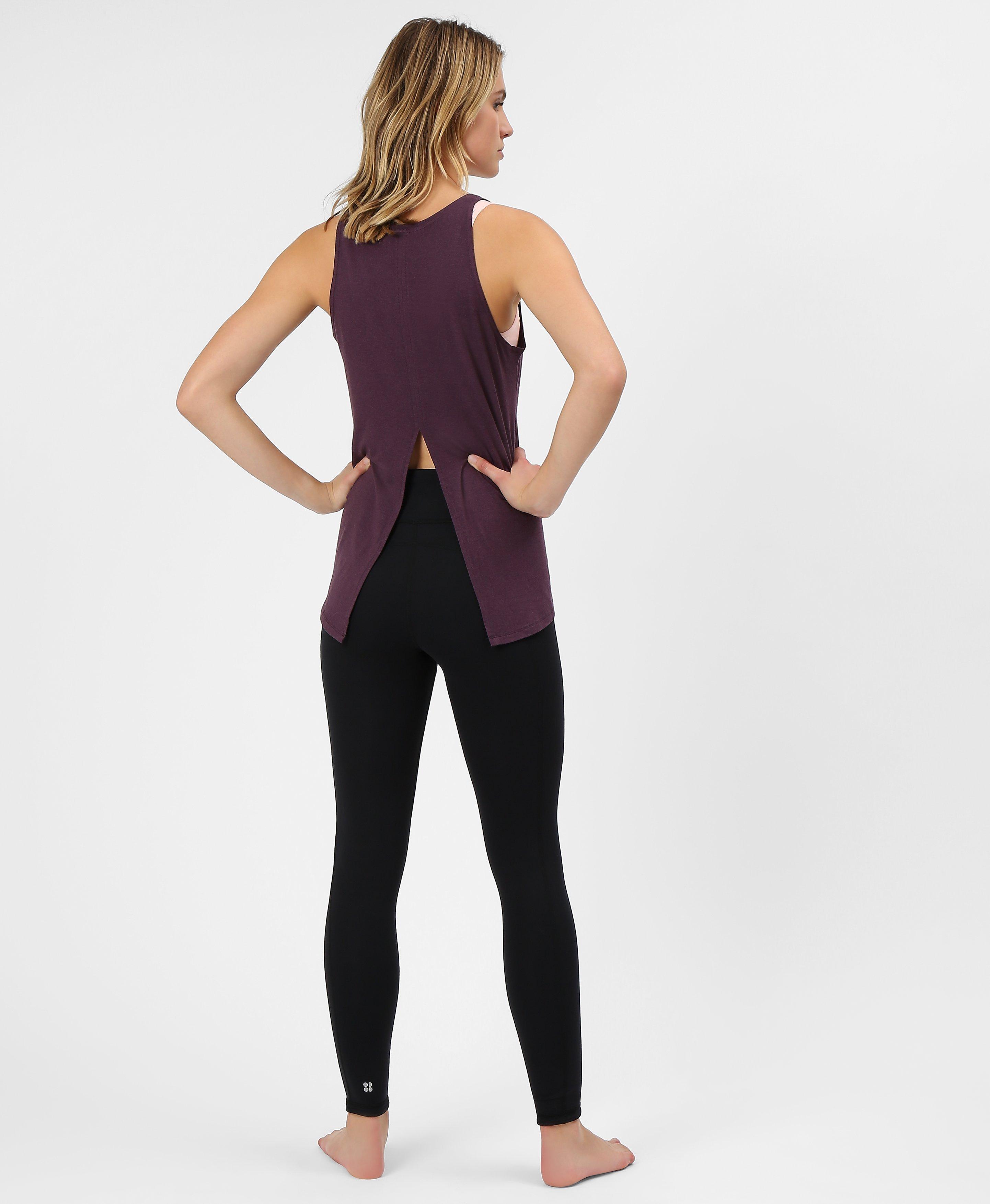 eggplant Winter Knit Printed Yoga Leggings