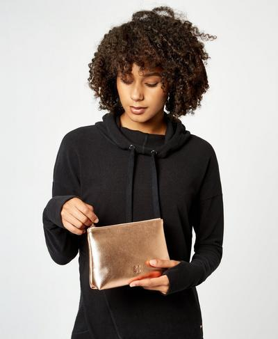 Metallic Make Up Bag, Rose Gold | Sweaty Betty