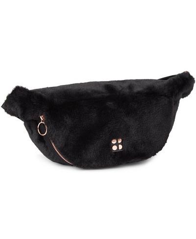 Faux Fur Bum Bag, Black | Sweaty Betty