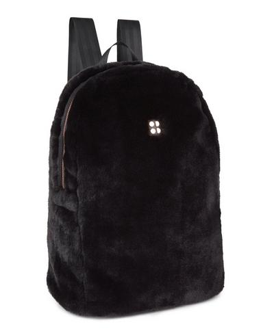 Faux Fur Backpack, Black | Sweaty Betty