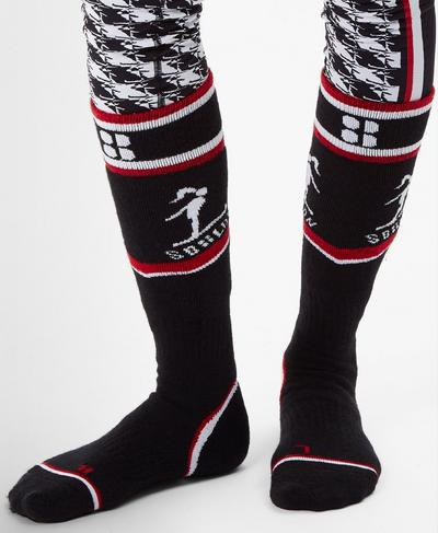 Technical Ski Socks, Black Colour Block | Sweaty Betty