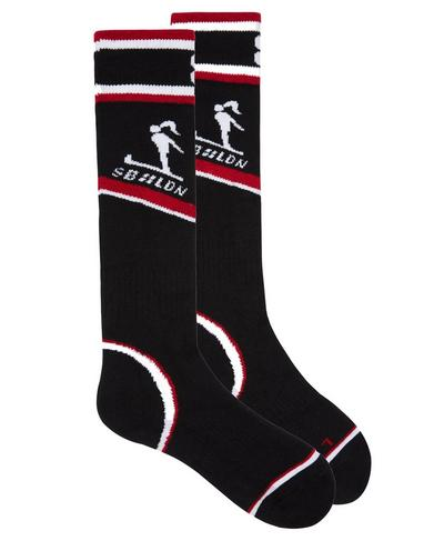 Technical Ski Socks, Black Colour Block | Sweaty Betty
