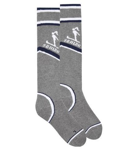 Technical Ski Socks, Charcoal Colour Block | Sweaty Betty