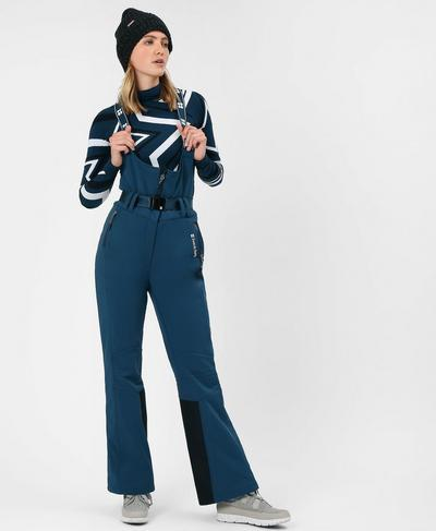 Astro Softshell Ski Pants, Beetle Blue | Sweaty Betty