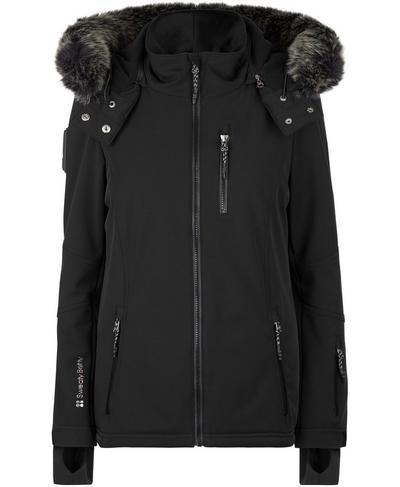 Exploration Softshell Ski Jacket, Black | Sweaty Betty