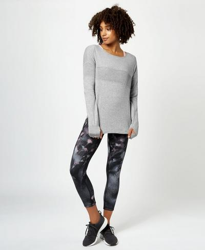 Position Knitted Jumper, Charcoal Marl | Sweaty Betty