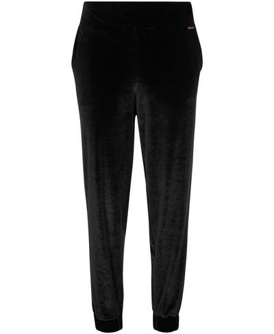 Velvet Sweat Pants, Black | Sweaty Betty