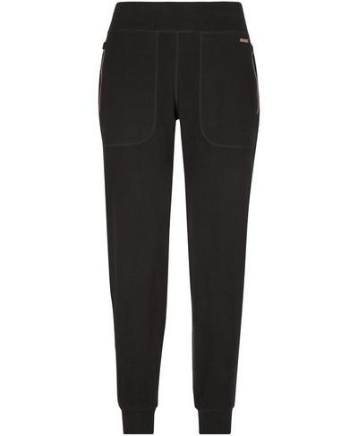 Gary Luxe Fleece Pants, Black   Sweaty Betty