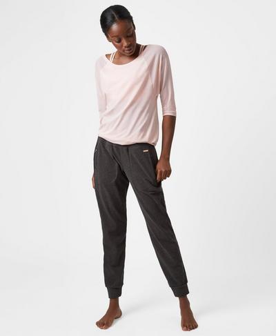 Luxe Liberty Pants, Black Marl   Sweaty Betty