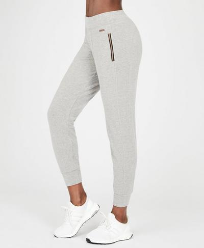 Luxe Liberty Pants, Light Grey Marl | Sweaty Betty
