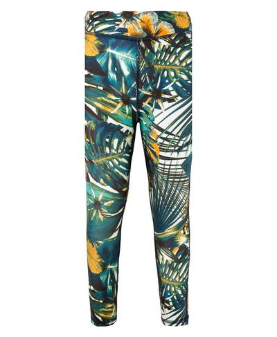 Baby Contour Leggings, Green Hibiscus Floral Print | Sweaty Betty