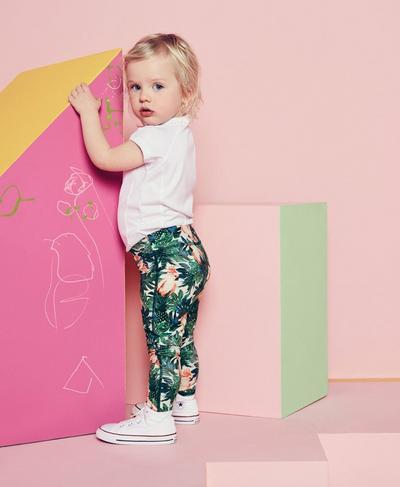 Mini Contour Leggings, Tropical Print | Sweaty Betty
