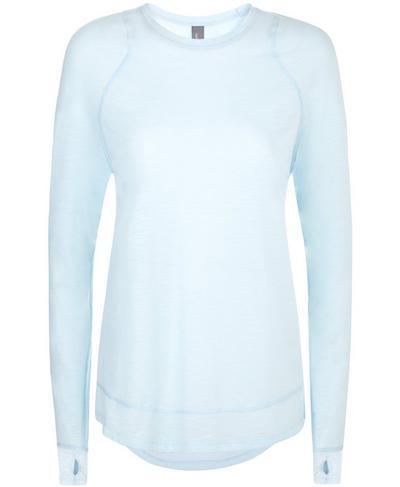 Summer Breeze Long Sleeve Top, Baby Blue | Sweaty Betty