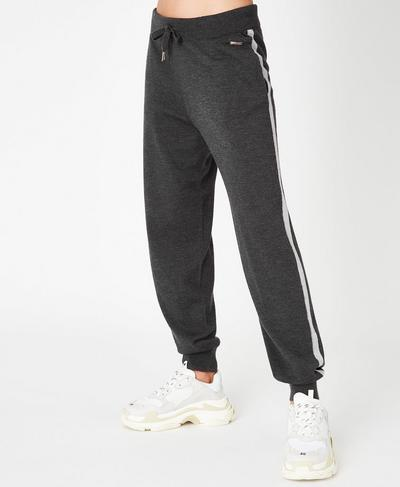 Merino  Lounge Pants, Charcoal Marl | Sweaty Betty