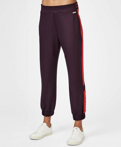 Craft 7/8 Track Pants, Aubergine Colour Block | Sweaty Betty