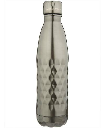 Metallic Water Bottle, Gunmetal | Sweaty Betty