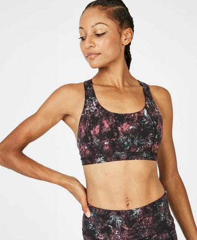 Circuit Sports Bra, Laundromat Pixelated Floral | Sweaty Betty