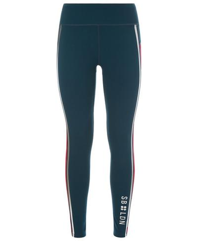 Zero Gravity Run Leggings, Beetle Blue Colour Block | Sweaty Betty