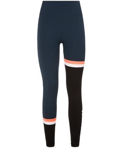 Form Colour Block Workout Leggings, Beetle Blue Colour Block | Sweaty Betty