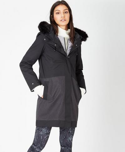 3 in 1 Parka, Black | Sweaty Betty