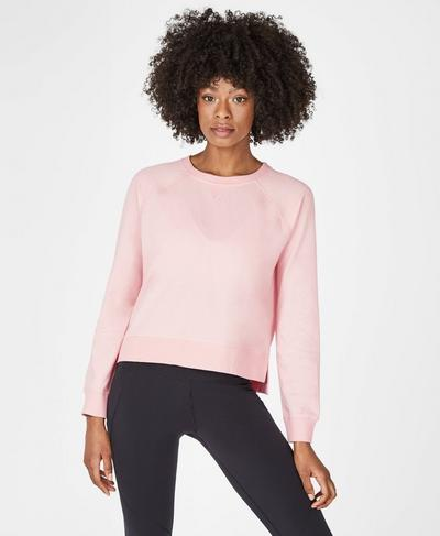Chelsea Crop Sweatshirt, Liberated Pink | Sweaty Betty
