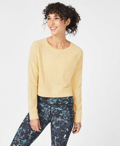 Chelsea Crop Sweatshirt, Yellow | Sweaty Betty