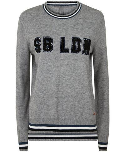 SB LDN Knitted Sweater, Charcoal Marl | Sweaty Betty