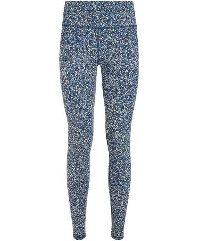Power Leggings, Beetle Blue Hexagon Print | Sweaty Betty
