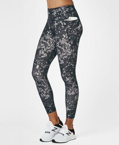 Power Workout Leggings, Monotone Camo Print | Sweaty Betty