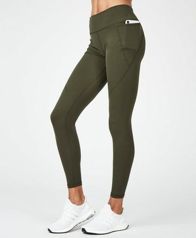 Power Workout Leggings, Olive | Sweaty Betty