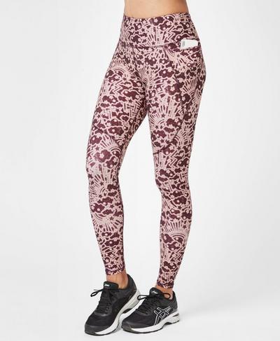 Power Workout Leggings, Work Hard Play Harder Print | Sweaty Betty