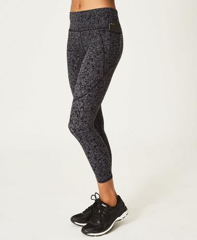 Power 7/8 Side Pocket Leggings, Tonal Hexagon Print | Sweaty Betty