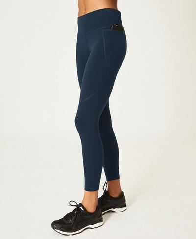 Power 7/8 Side Pocket Leggings, Beetle Blue | Sweaty Betty