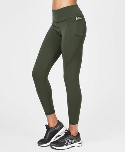 Power 7/8 Workout Leggings, Olive | Sweaty Betty