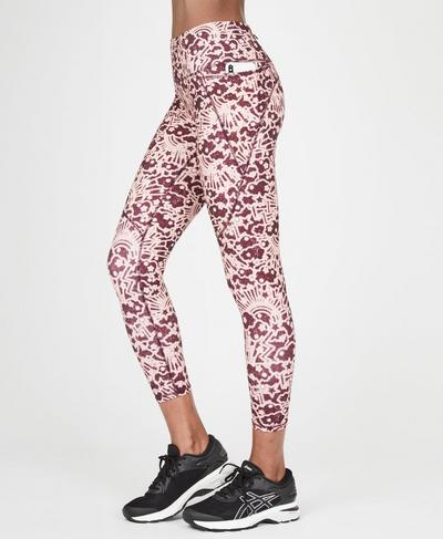 Power 7/8 Workout Leggings, Work Hard Play Harder Print   Sweaty Betty