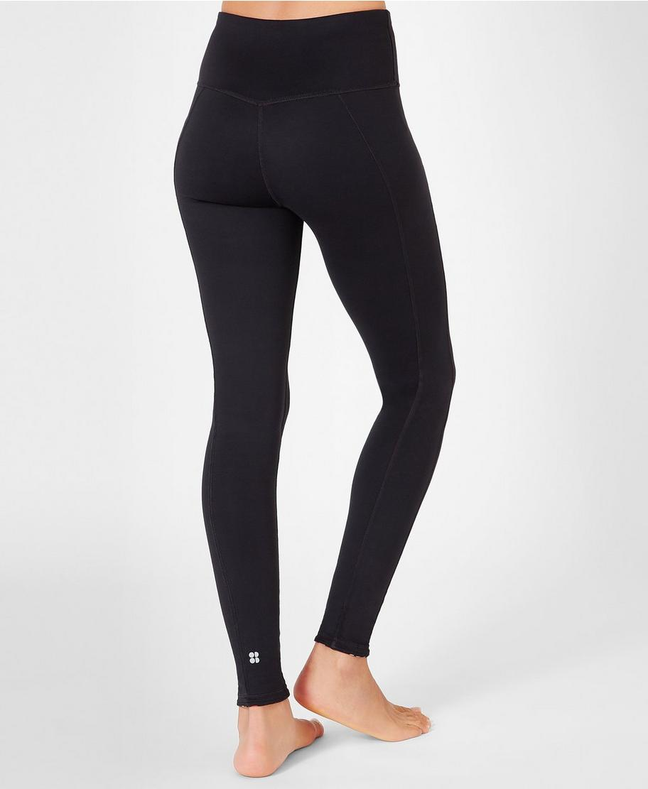 29424f525ed56 Reversible Yoga Leggings - Aubergine Geo Floral | Women's Leggings | Sweaty  Betty