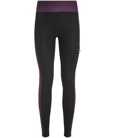 Thermodynamic Run Leggings, Black Colour Block | Sweaty Betty
