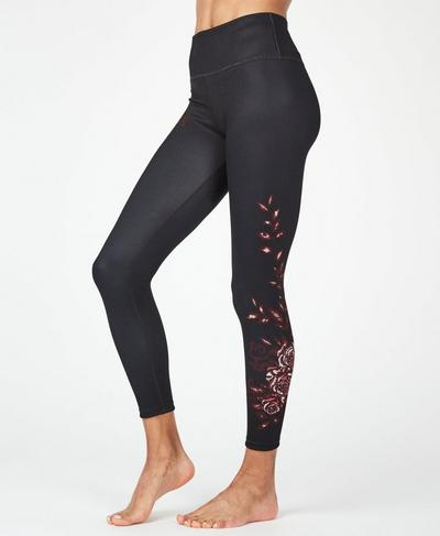 Reversible High Waisted 7/8 Yoga Leggings, Romantic Rebels Placement Print | Sweaty Betty