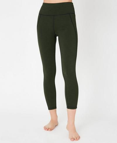 Reversible High Waisted 7/8 Yoga Leggings, Dark Forest | Sweaty Betty