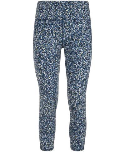 Power Crop Leggings, Beetle Blue Hexagon Print | Sweaty Betty