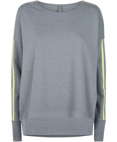 Simhasana Slogan Sweatshirt, Charcoal Marl | Sweaty Betty