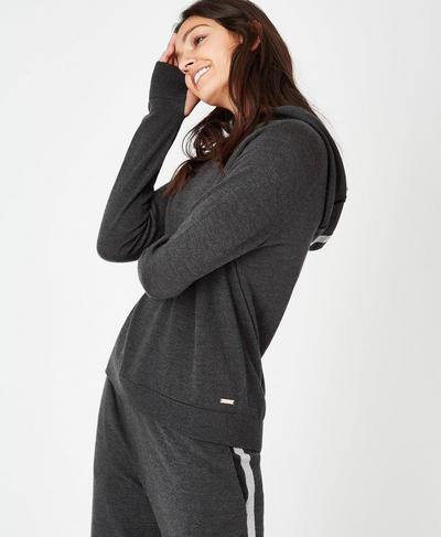 Merino Lounge Sweater, Charcoal Marl | Sweaty Betty