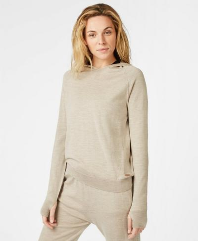 Merino Lounge Sweater, Oatmeal Marl | Sweaty Betty