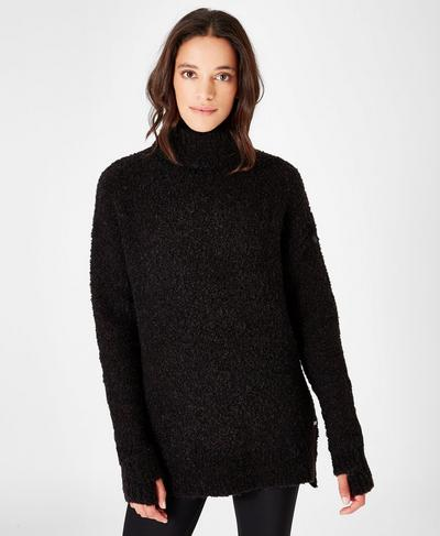Woodland Knitted Sweater, Black | Sweaty Betty
