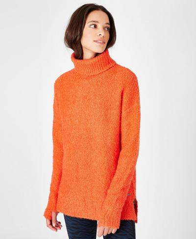 Woodland Knitted Sweater, Orange | Sweaty Betty