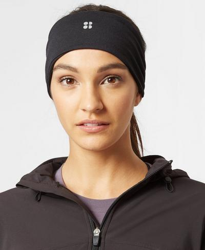 Anna Running Headband, Black | Sweaty Betty