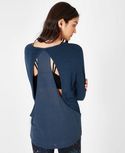 Enchant Long Sleeve Top, Beetle Blue | Sweaty Betty